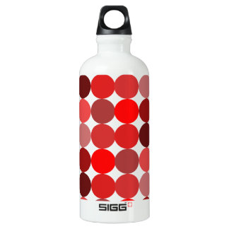 Big Red Polka Dots Aluminum Water Bottle