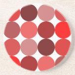 Big Red Polka Dots Beverage Coaster