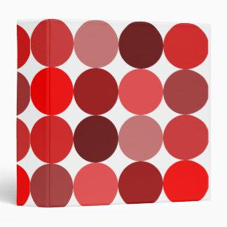 Big Red Polka Dots Binder