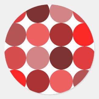 Big Red Polka Dots Classic Round Sticker