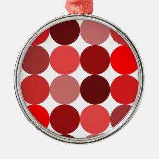 Big Red Polka Dots Metal Ornament