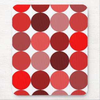 Big Red Polka Dots Mouse Pad