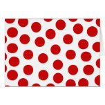 Big Red Polka Dots on Customizable Background Card