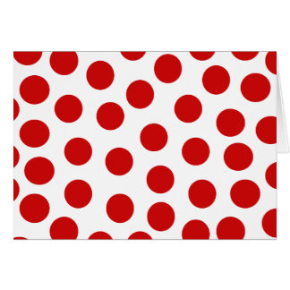 Big Red Polka Dots on Customizable Background Greeting Card