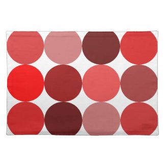 Big Red Polka Dots Placemat