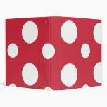 Big Red Polka Dots School Notebook Binders
