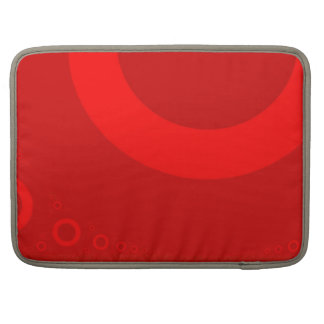 BIG RED POLKA DOTS SLEEVE FOR MacBook PRO