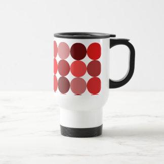 Big Red Polka Dots Travel Mug