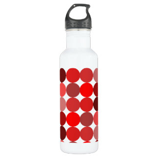 Big Red Polka Dots Water Bottle