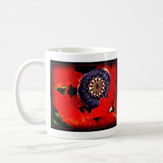 big red poppy mug