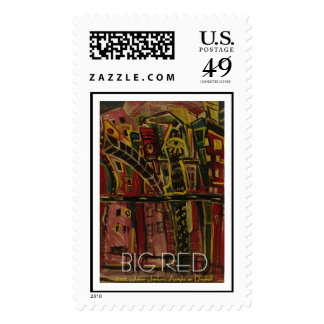 big red  postage
