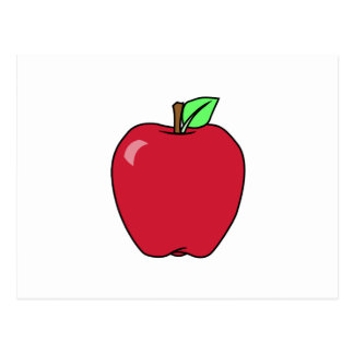 Big Red Ripe Apple Postcard
