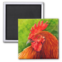 Big Red - Rooster Magneted R Magnet