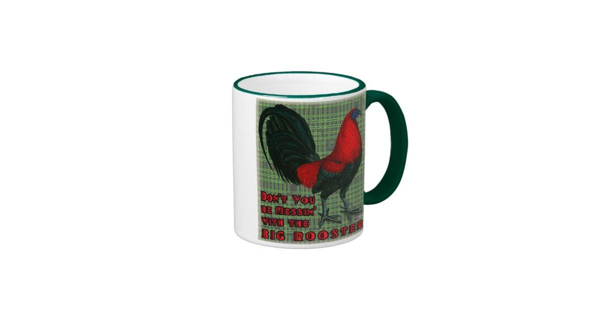 %name Make A Coffee Mug Mug With Red Rooster Zazzle