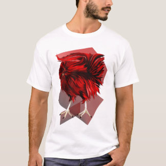 Big, Red Rooster with BG Shirt