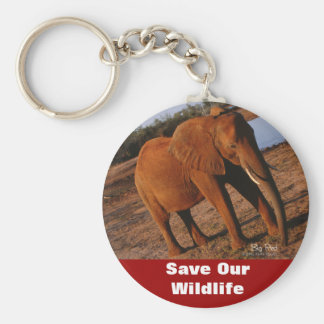 Big Red Save Our Wildlife Key Chain