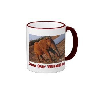 Big Red Save Our Wildlife Ringer Coffee Mug