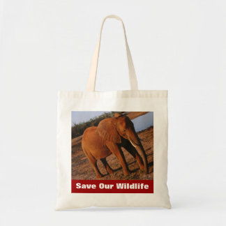 Big Red Save Our Wildlife Tote Bag