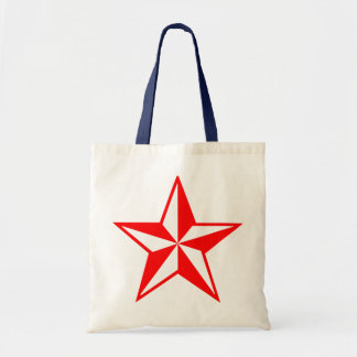 Big Red Star Shopping Tote Tote Bag