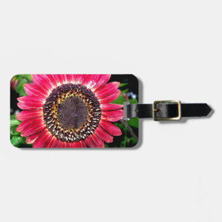 Big Red Sunflower Luggage Tags