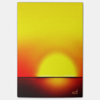 Big Red Sunset 2 post it notes  ©AH2015