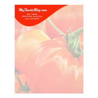 Big Red Tomato Personalized Food Lover's Letterhead