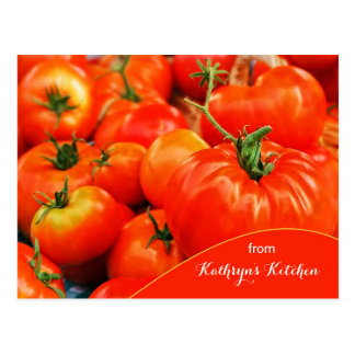 Big Red Tomatoes Recipe Ready Postcard