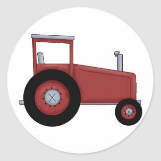 Big Red Tractor Classic Round Sticker