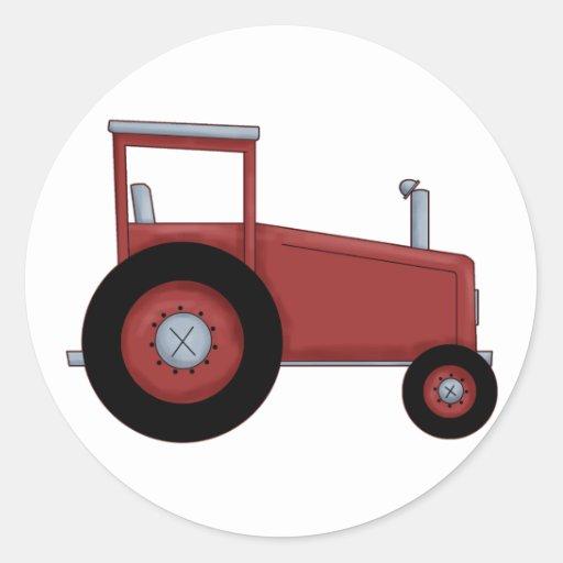 Big Red Tractor Sticker