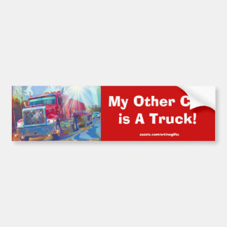 Big Red Truckers Bumper Sticker Collection