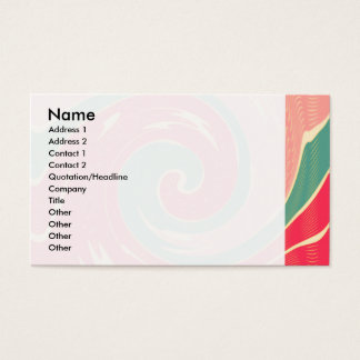 Big red wave business card