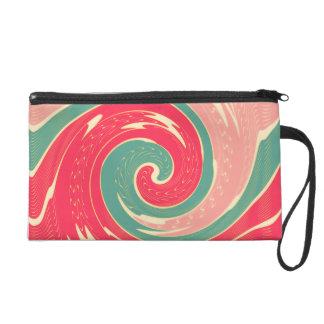 Big red wave wristlet purse