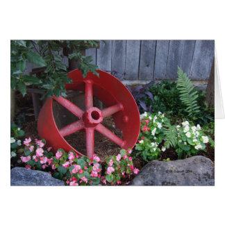 Big Red Wheel Card