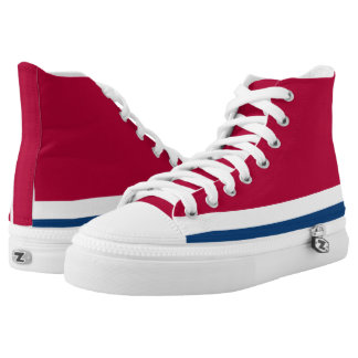 Big Red White and Blue Hi-Top