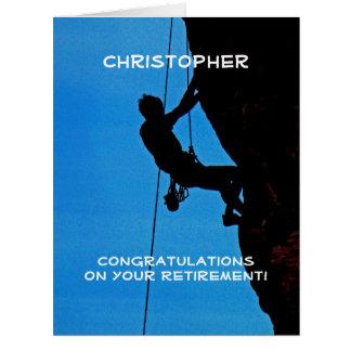BIG Retirement Congratulations JUMBO, Rock Climber Card