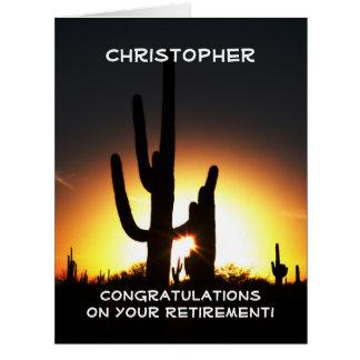 BIG Retirement Congratulations, JUMBO, Saguaro Card