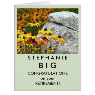 BIG Retirement Congratulations Yellow Flowers Card