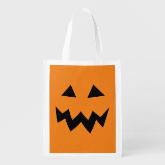 Big reusable Halloween pumpkin shopping bags Reusable Grocery Bag