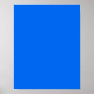BIG RICH BRIGHT DEEP BLUE BACKGROUND WALLPAPER TEM POSTER