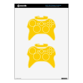 BIG RICH BRIGHT DEEP YELLOW BACKGROUND WALLPAPER T XBOX 360 CONTROLLER DECAL