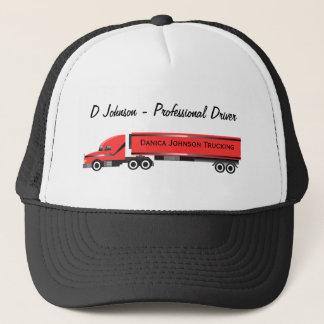 Big Rig 18 Wheeler Personalized Trucker Cap