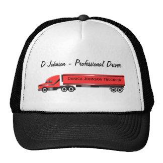 Big Rig 18 Wheeler Personalized Trucker Cap Trucker Hat