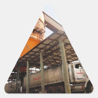 Big Rig at Cane Sugar Plant Triangle Sticker
