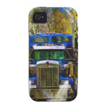 Big Rig Blue Lorry Heavy Transport Trucker Art iPhone 4 Cover