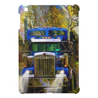Big Rig Blue Lorry Heavy Transport Trucker Art iPad Mini Cases
