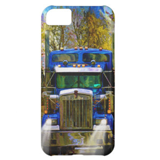 Big Rig Blue Lorry Heavy Transport Trucker Art iPhone 5C Case