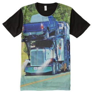 Big Rig Car Transporter for Truckers All-Over-Print T-Shirt