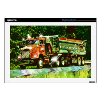 "BIG RIG CARGO TRUCK DRIVER'S Device Protection 17"" Laptop Skin"