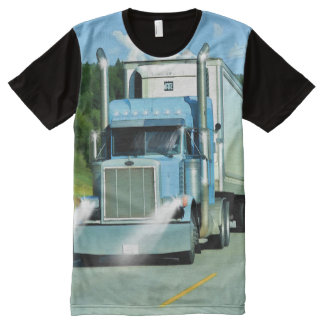 Big Rig Freezer Lorry Truck-Driver Art Shirt