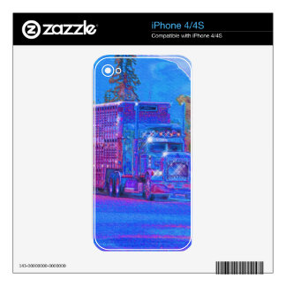 BIG RIG FREIGHT TRUCK DRIVER Device Skins Decals For iPhone 4